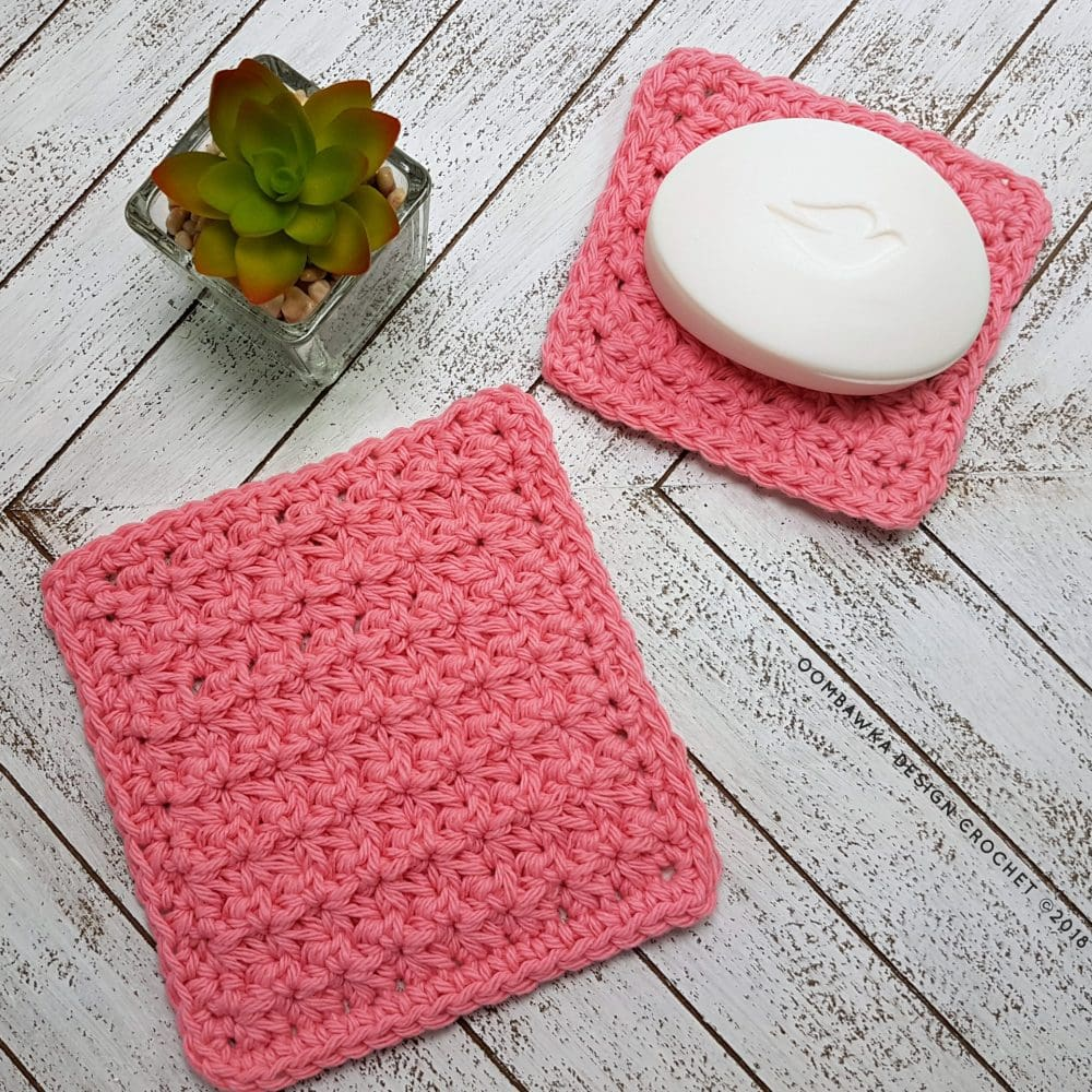 Trinity Stitch Dishcloth Free Patterns Oombawka Design Crochet