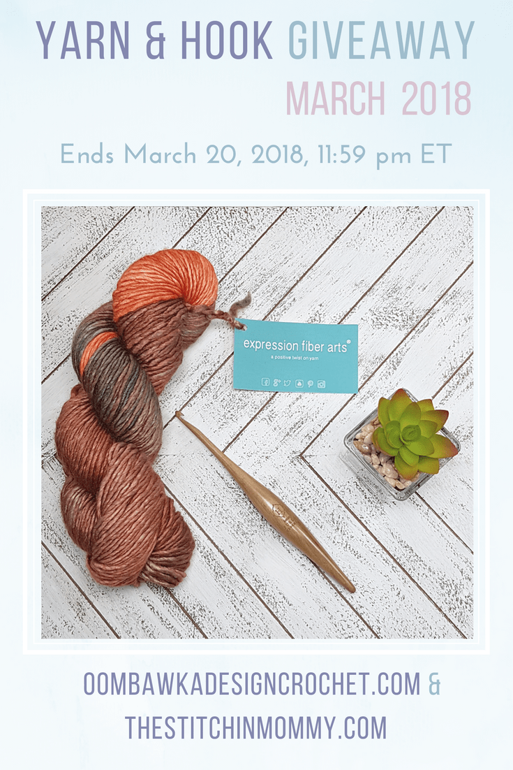 Yarn and Hook Giveaway March 2018 PIN OombawkaDesignCrochet