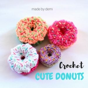 Featured at The Wednesday Link Party Crochet Donuts - Made by Demi