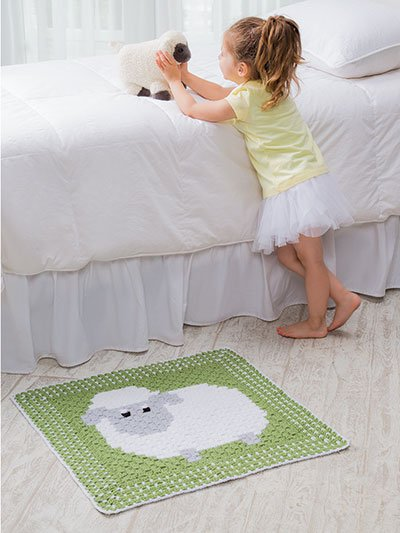 Sheep Blanket Corner-to-Corner Lap Throws for the Family