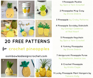 Crochet these 🍍 Fun Free Pineapple Crochet Patterns 🍍