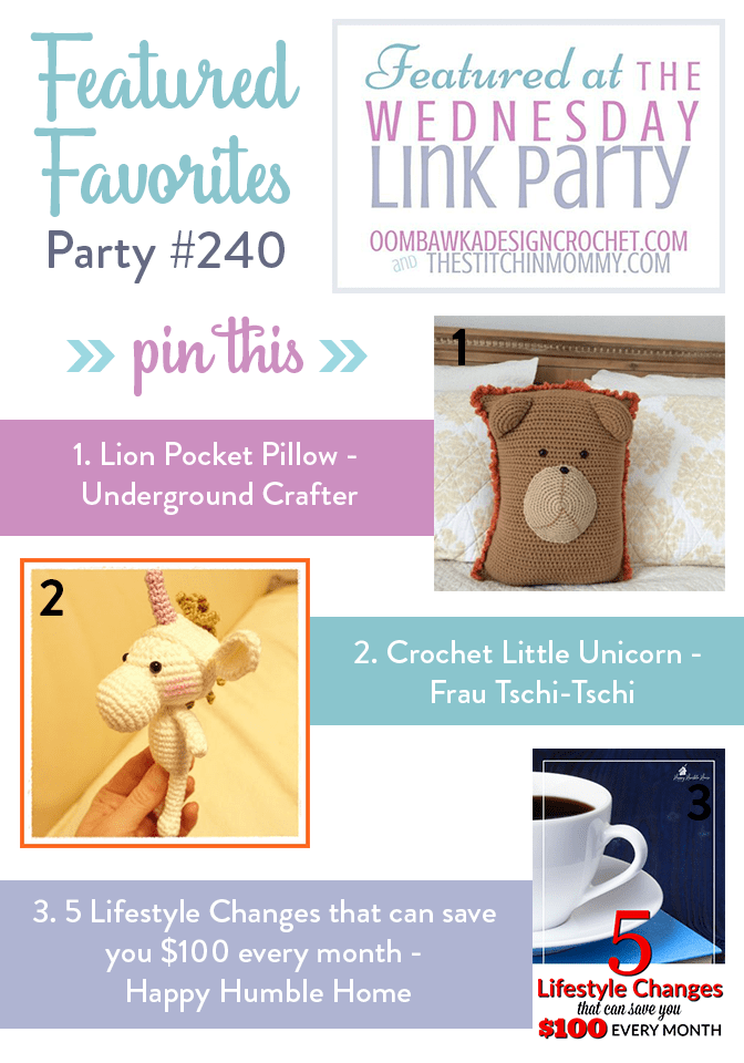 Featured at The Wednesday Link Party 240