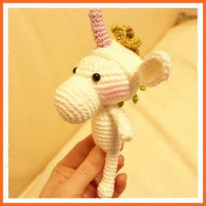 Featured at The Wednesday Link Party 240: Crochet little unicorn by Frau Tschi-Tschi