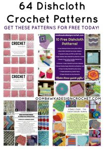 64 Crochet Dishcloth Patterns available for free at Oombawka Design Crochet