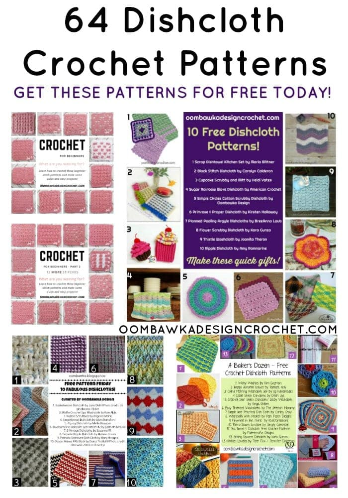 64 Free Crochet Dishcloth Patterns