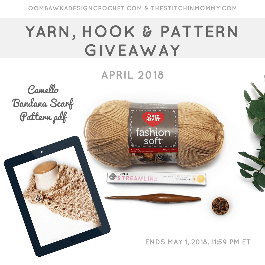 Monthly Yarn, Hook and Pattern Giveaway INSTA