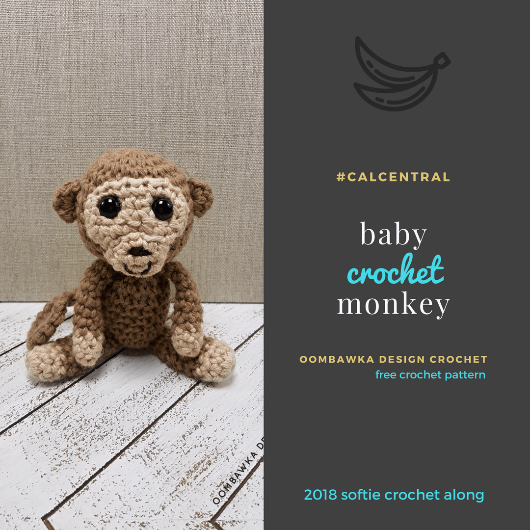 Large Baby Monkey Amigurumi Pattern with Bonus Santa Hat | Etsy | 1080x1080
