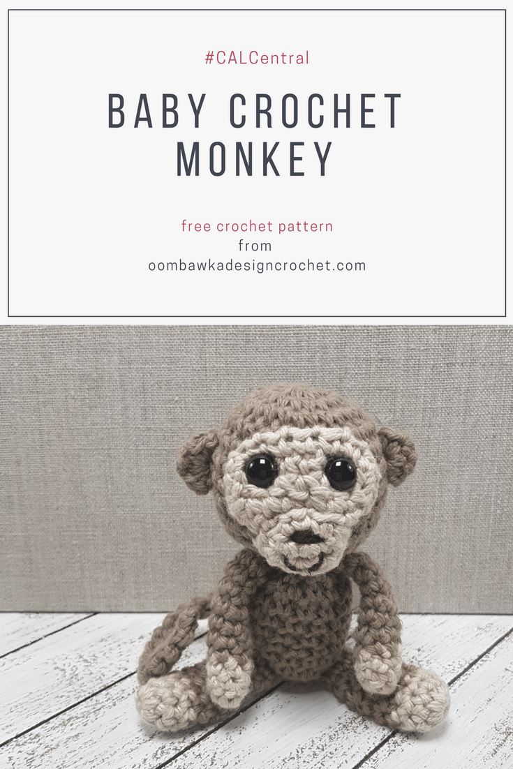Have you seen my Baby Crochet Monkey? #CALCentral This pint-sized little guy can easily it in your hand. He is much loved by little ones and enjoys monkeying around! Crochet one today with my free pattern!