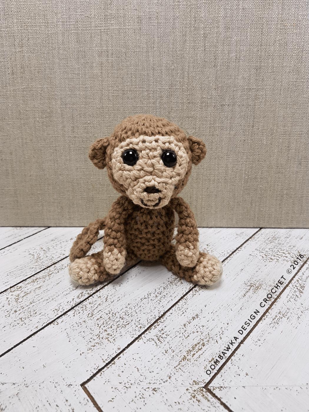 Amazon.com: crochet monkey, baby toy monkey, knitted monkey ... | 1400x1050