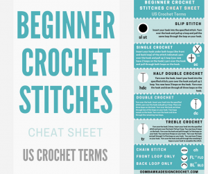 Beginner Crochet Stitches Cheat Sheet US Terms Oombawka Design Crochet oombawkadesigncrochet cover