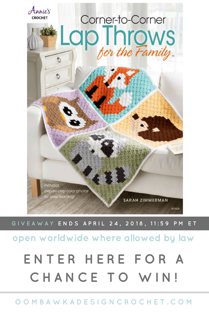 5 Adorable Corner-to-Corner Lap Throws You Will Love to Crochet Annie\'s Craft Store Crochet Book Review by Oombawka Design Giveaway ends April 24, 2018, 11:59 pm ET.