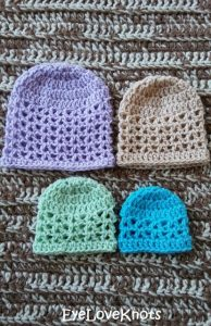 Featured at Wednesday Link Party 239. Lightweight Preemie Beanie by EyeLoveKnots