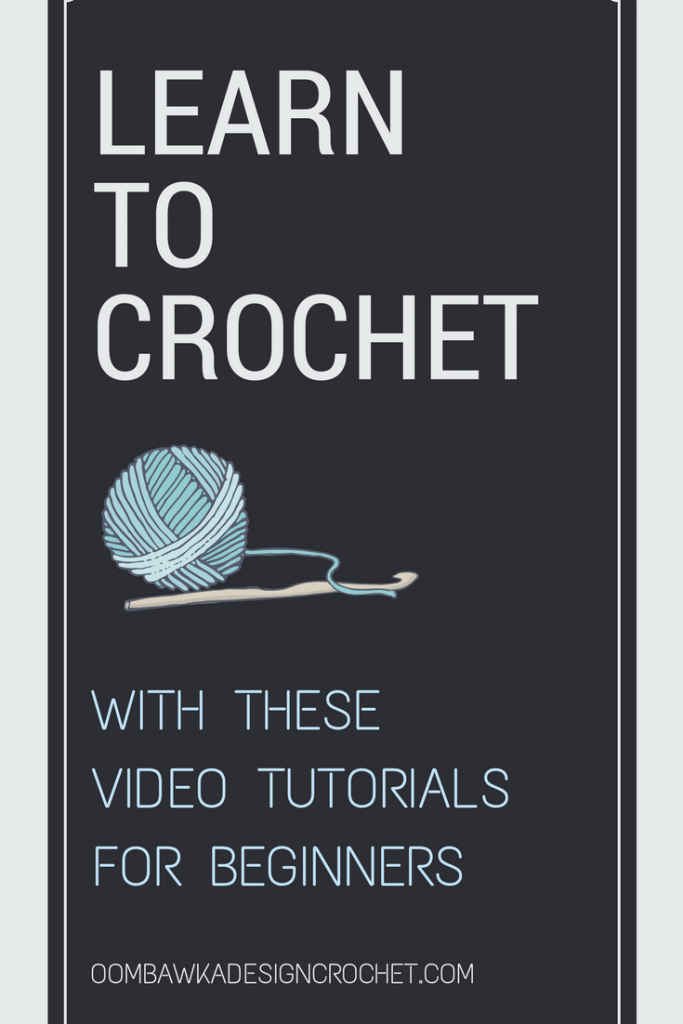 Learn to Crochet with these Video Tutorials for Beginners Pin