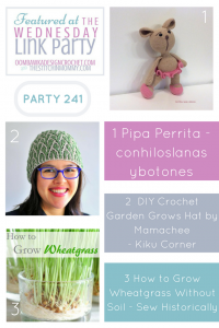 The Wednesday Link Party 241 Featured Favorites: Pretty Crochet Patterns and Grow Your Own Wheatgrass