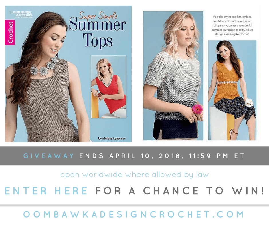 Super Simple Summer Tops Giveaway at Oombawka Design Ends April 10 at 1159 pm ET FB