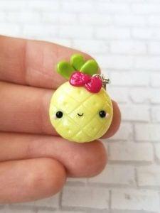 Kawaii Pineapple Charm Stitch Marker