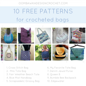 10 Free Patterns for Crocheted Bags instacrochet