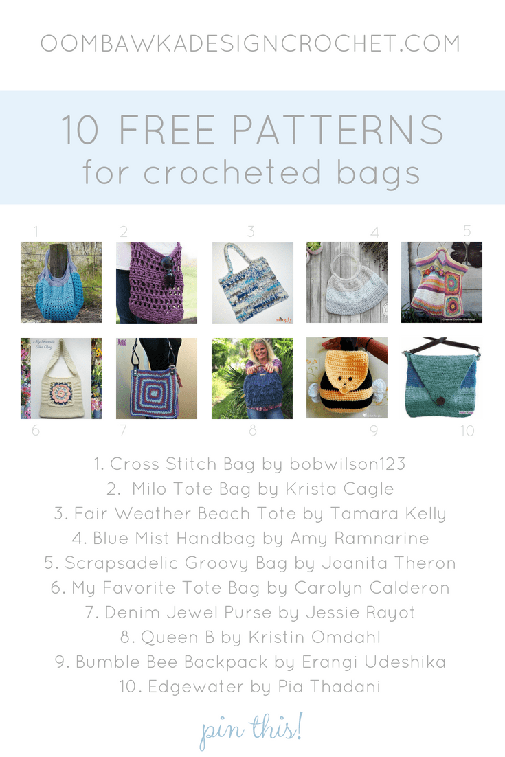 10 Free Crochet Bag Patterns