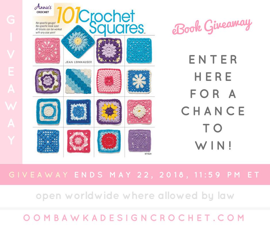 101 Crochet Squares. #Annies Giveaway Oombawka Design Crochet FB