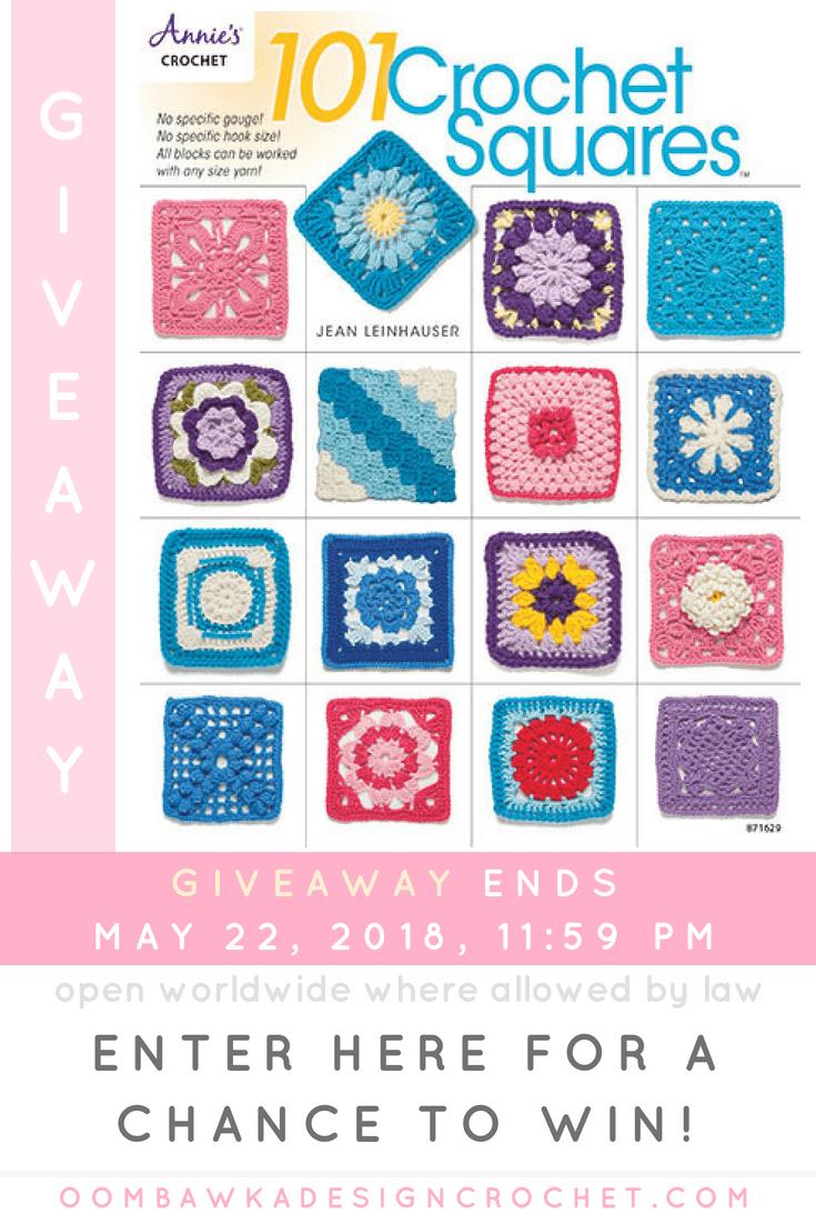 101 Crochet Squares. @Annies Giveaway Oombawka Design Crochet