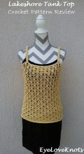 Featured at Wednesday Link Party 244. Lakeshore Tank Top. EyeLoveKnots. Oombawka Design Crochet.