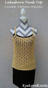 Featured at Wednesday Link Party 244. Lakeshore Tank Top. EyeLoveKnots. Oombawka Design Crochet.