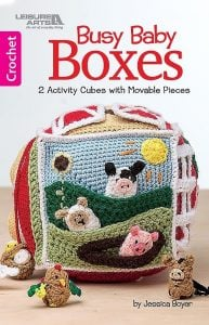 Busy Baby Boxes. 2 Activity Cubes with Movable Pieces. Book Review by Rhondda Mol of Oombawka Design.