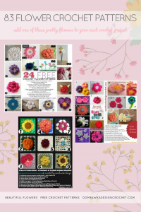 83 Flower Crochet Patterns. Free Pattern Roundup. Oombawka Design Crochet. PIN