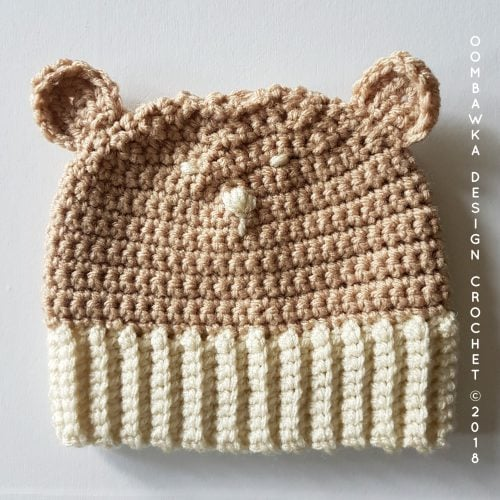 Bear Hat Finished. Diaper Cover and Bear Hat. Oombawka Design