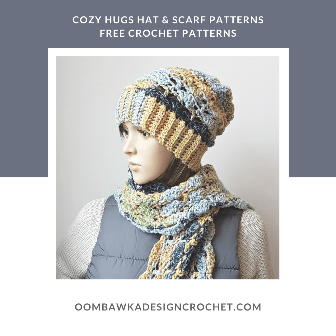 Cozy Hugs Hat and Scarf Patterns. Oombawka Design Crochet FB