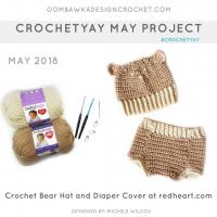 Diaper Cover and Bear Hat Pattern. RHY. Oombawka Design Crochet
