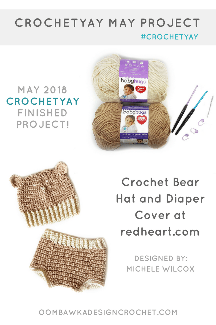 Diaper Cover and Bear Hat Pattern. RHY. Oombawka Design Crochet PIN
