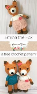Featured Wednesday Link Party 245. Oombawka Design Crochet: Emma the Fox. A Free Crochet Pattern. Grace and Yarn.