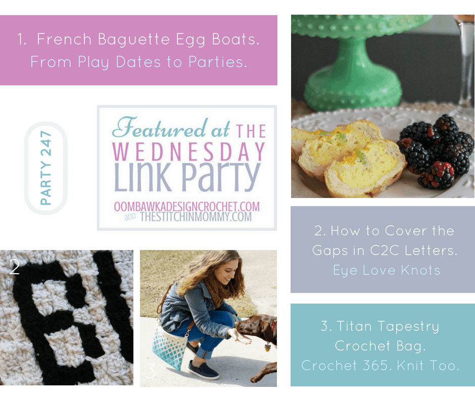 Wednesday Link Party 247 Features. Oombawka Design Crochet. FB