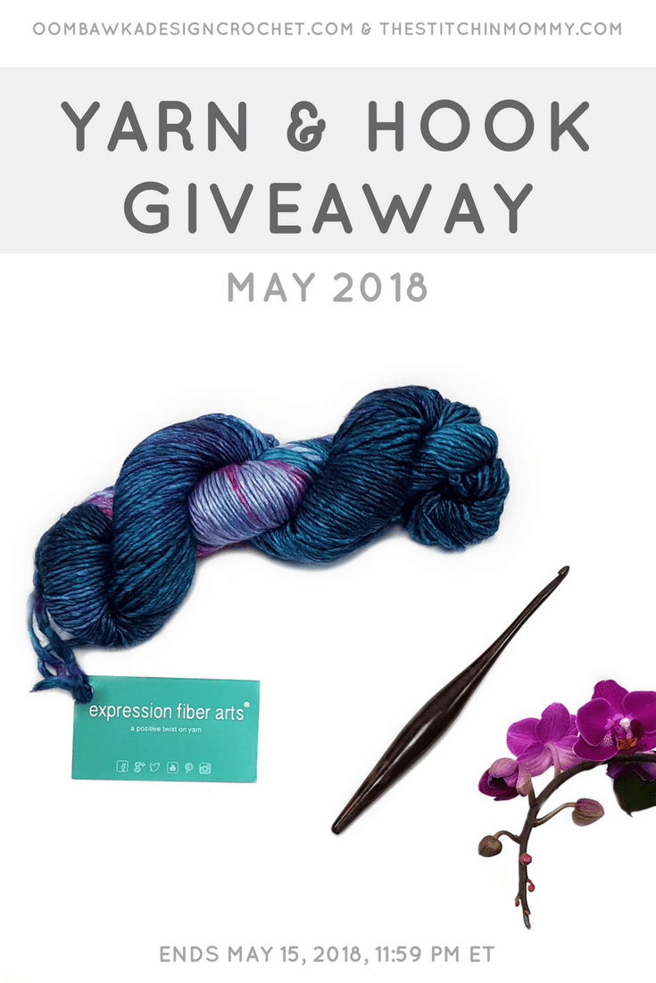 May Yarn and Hook Giveaway. Oombawka Design Crochet and The Stitchin Mommy