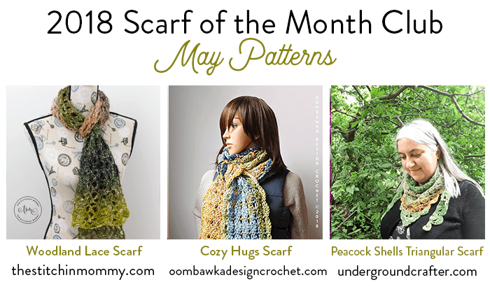 Scarf of the Month Club 2018 May Oombawka Design Crochet