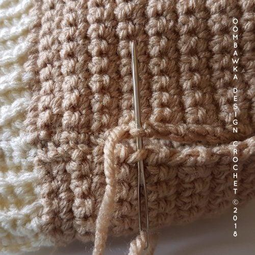 Whip Stitch Seam Diaper Cover. Oombawka Design Crochet