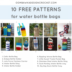 10 Patterns for Water Bottle Bags