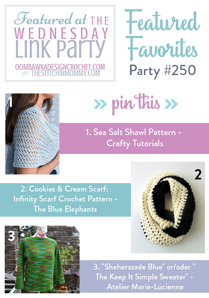 "Featured at the Wednesday Link Party ""Sheherazade Blue"" or/oder "" The Keep It Simple Sweater"" by Atelier Marie-Lucienne"