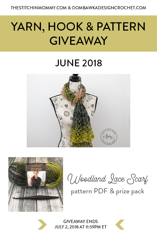 June Yarn, Hook and Pattern Giveaway at Oombawka Design Crochet pin
