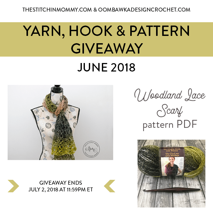 June Yarn, Hook and Pattern Giveaway at Oombawka Design Crochet
