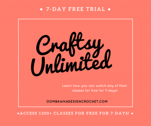 Access more than 1300 classes online at Craftsy Unlimited for free for 7-days