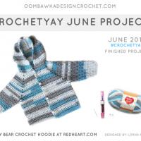 Crochetyay June 2018 Project. Free Pattern from Red Heart. Oombawka Design Crochet FB
