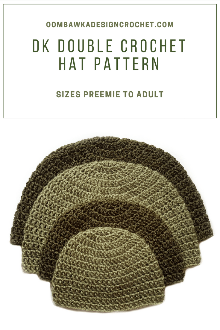Get your DK Double Crochet Hat Pattern on the blog for free today! This simple hat pattern is available in sizes preemie to adult large. #scheepjes #freepattern #crochet