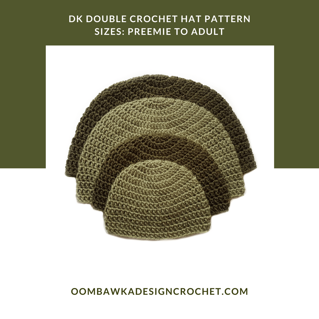 DK Double Crochet Hat Pattern for Beginners • Oombawka Design Crochet 40baddfe342