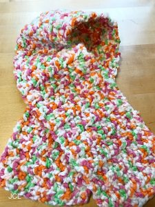 Featured at the Wednesday Link Party: Children's Crochet Scarf - Julie's Creative Lifestyle