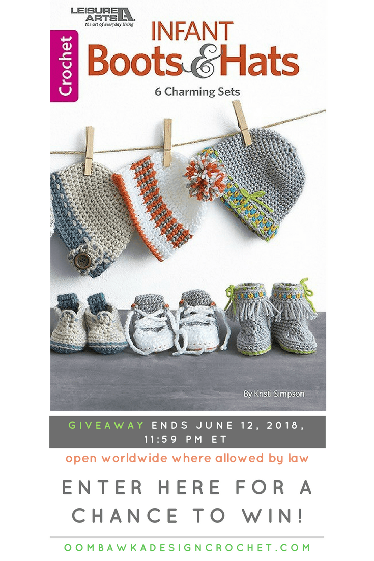 Infant Boots and Hat eBook Giveaway. Leisure Arts. Oombawka Design Crochet