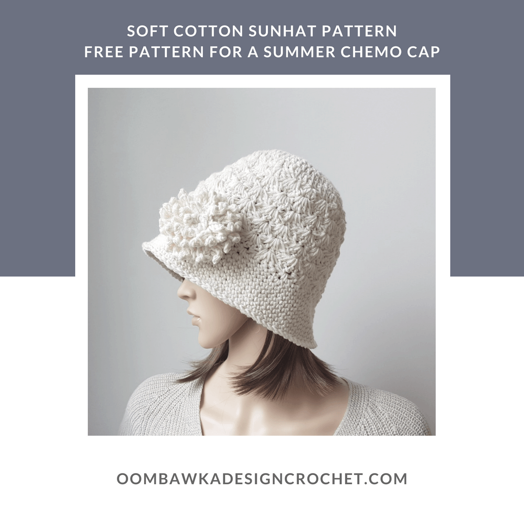 Soft Cotton Sunhat Pattern. Oombawka Design Crochet 2018 FB