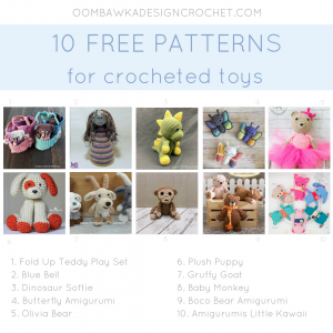 10 Free Patterns for Crocheted Toys