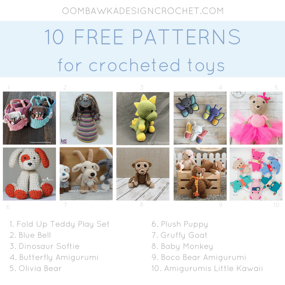 Ten Free Patterns for Crocheted Toys. Amigurumi Roundup. Oombawka Design Crochet
